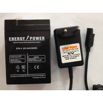 Kit Bateria 6v 4,5ah + Carregador - Moto Elétrica Brinquedos