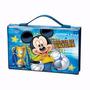 Maleta Infantil Colorir Kit Mickey 72 Ítens Molin + Brinde
