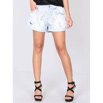 Shorts Jeans Bordado Feminino Equus
