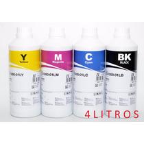 Tinta Corante Inktec Para Epson 4 Frascos De 1 Litro