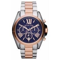 Relógio Michael Kors Mk5606 Prata, Azul Rose Pronta Entrega.