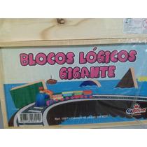 Blocos Logicos Gigantes - Mdf - 48 Pçs - Caixa Madeira