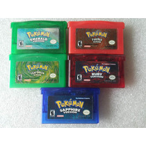 Lote Pokemon Emerald + Firered + Leafgreen + Ruby + Sapphire