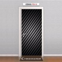 Adesivo Decorativo Para Porta Listras Diagonais Mod Pex16