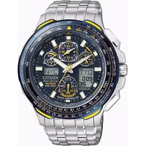 Relógio Citizen Blue Angels Jy0050-55l Skyhawk Titanium 12 X