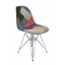 Cadeira Dkr Charles Eames Torre Inox Patchwork