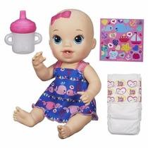 Boneca Baby Alive Hora Do Xixi Hasbro Loira Troca Fralda