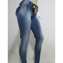 Calça Rhero Jeans Estilo Pit Bull Com Bojo E Cinto Removivel