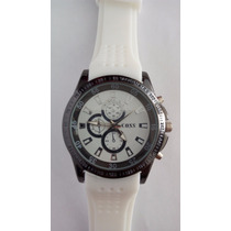 Relógio Masculino Importado Branco Marca Coss
