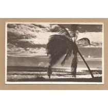 1953 -cartão Postal Praia Fortaleza Com Selo Netinha R-471
