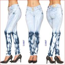 Calça Jeans Feminina Tie Die Azul Delave Clarinha Gata J 807