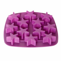 Forma 12 Estrela Cupcake Gelo Gelatina Silicone Wincy