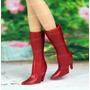 Sapato De Luxo * Bota Vermelha P/ Boneca Barbie * Sapatinho