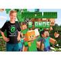 Minecraft - Papel Arroz A4 Personalizado C/ Nome E Foto
