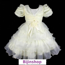 Vestido Infantil Festa/casamento/florista Amarelo Claro 4