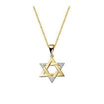 Pingente Estrela De Davi - Cravejado E Banhado A Ouro 18k