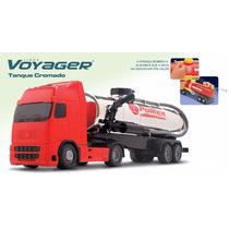 Caminhão Voyager Tanque Cromado Solta Água De Verdade - Roma
