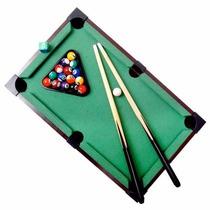 Mini Mesa De Sinuca Bilhar Snooker Em Madeira 51x31x9,5cm