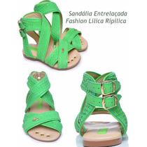 Sandália Entrelaçada Lilica Ripilica Tam 35