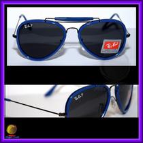 Óculos De Sol 3428 Road Spirit Azul, Lente Preta Polarizada