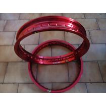 Aro Roda Aluminio Monaco 18-2.50 Vermelho Cada