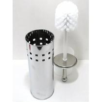 Escova De Banheiro Para Vaso Sanitário Suporte Aço Inox