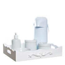 Kit Higiene Bandeja Arabesco C/ Porta Álcool-gel Quarto Bebê