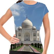 Camiseta Índia Taj Mahal Baby Look