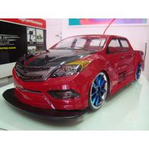 Automodelo Elétrico Pick Up Red Fury Drift 4x4 Escala 1/10