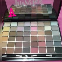 Kit Maquiagem Paleta Luxo 48 Sombras Foscas Luisance Cor A