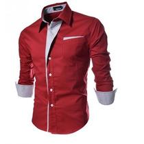Camisa Social Slim Fit - Frete Gratis - Direto Do Fornecedor