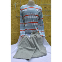 Pijama Masculino Hering - Blusa Em Malha - Calça Em Moletom