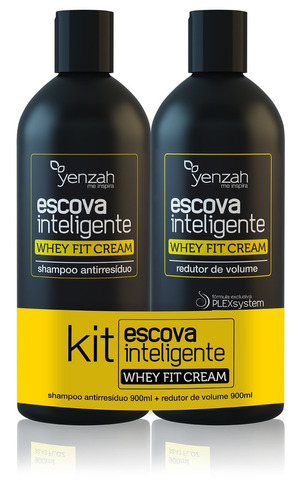 Kit Escova Inteligente Whey Fit Cream Yenzah