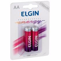 Pilha Recarregável Elgin Aa-2700 Mah Blister C/2