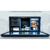 Caixa De Cozinha Para Caminhão Com Geladeira
