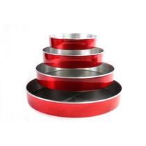 Formas Redonda De Bolo 4 Peças Vermelha Laredu Frete Grátis