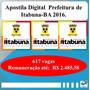 Apostilas Digital Prefeitura De Itabuna-ba 2016.