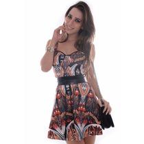 Vestido Feminino Estampado Godê - Kam Bess - Ve0965