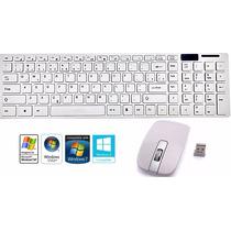 Kit Teclado+ Mouse Wireless S/ Fio 1600dpi Smart Tv Notebook