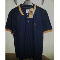 Camisa Polo Masculina Marca Famosa Azul Marinho Tm Gg (tng)