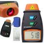 Tacômetro Laser Óptico Digital Medidor Rotação Rpm S Contato