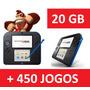2ds+20gb +carregador+caneta+mario+pokemon +zelda + 450 Jogos