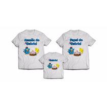 Kit 3 Camiseta Camisa Galinha Pintadinha Aniversário