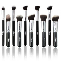 Kit Sixplus ® Kabuki Profissional Com 10 Pincéis
