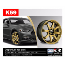 Roda K59 Aro 17 5x100/114 Fox Audi Polo Bora New Civic Opala