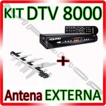 Kit Conversor Tv Digital Aquario ( H D T V) + Antena Externa