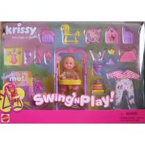 Barbie Krissy Com Balanco E Bebe Nao Gravida Promocao