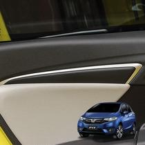 Honda Fit Aplique Prata Frizo Lateral Interior Acessórios