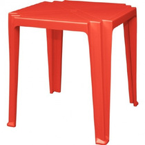 Mesa Plástica Tramontina Quadrada 92314 Vermelha 23119