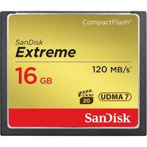 Cartão Memória 16gb Compact Flash Sandisk Cf Extreme 120mb/s